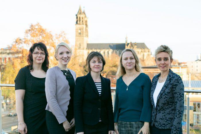 v.l.n.r.: Melanie Göring, Julia Leskow, Heike Raudies, Anja Schröder, Sabine Kahmann